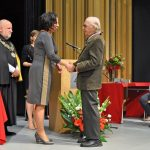 Prof. Stanisław Słonina odbiera medal Gloria Artis
