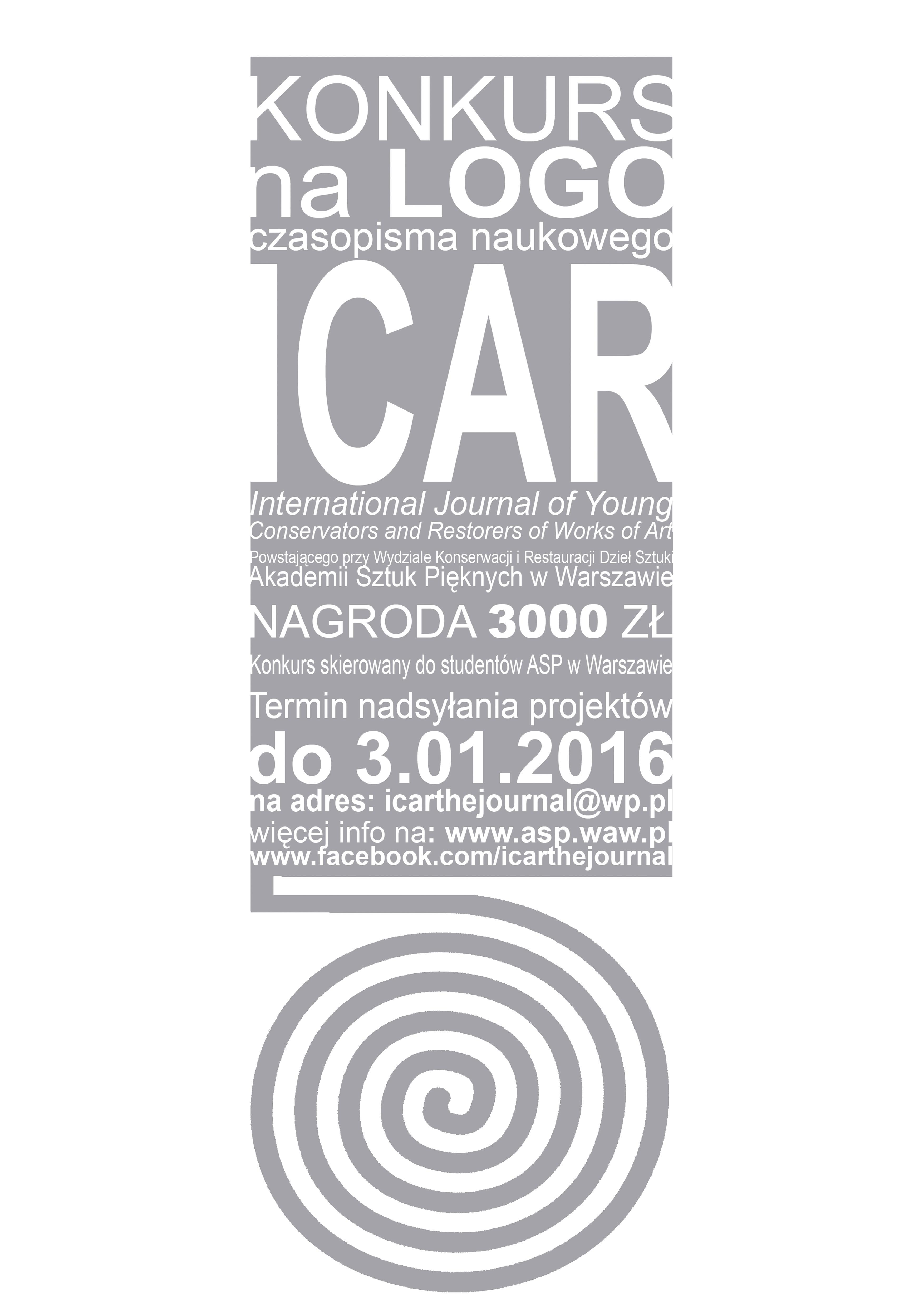 Czasopismo ICAR - plakat konkurs na logotyp