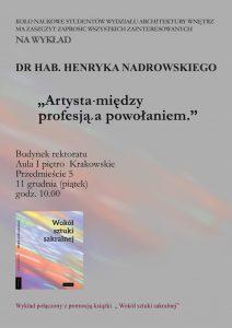 plakat wykład