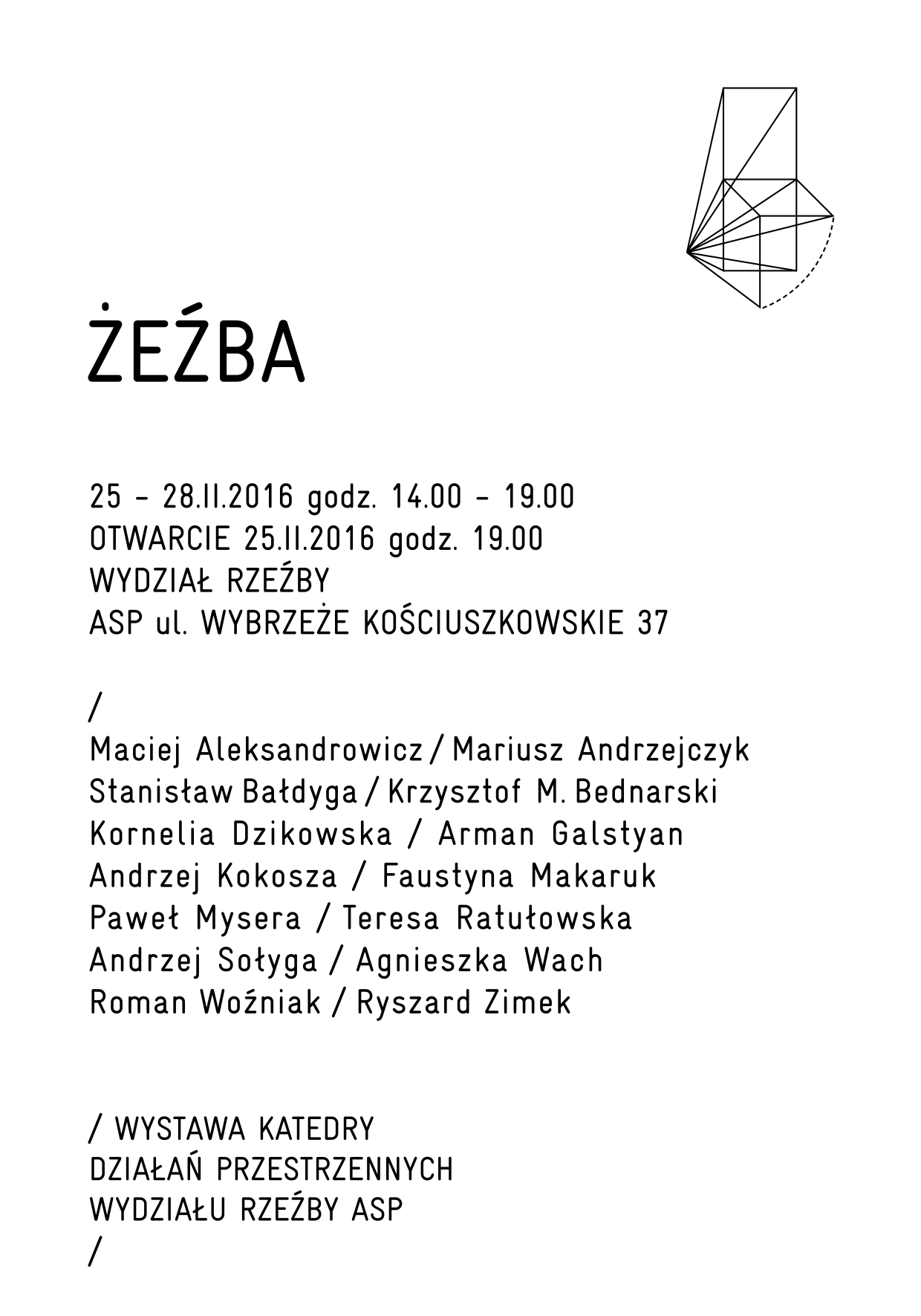 ZEZBA plakat KARTKA 2