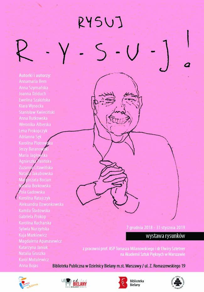 plakat promujący wystawę projekt: Justyna Eberle ilustracja:Klara Wysocka