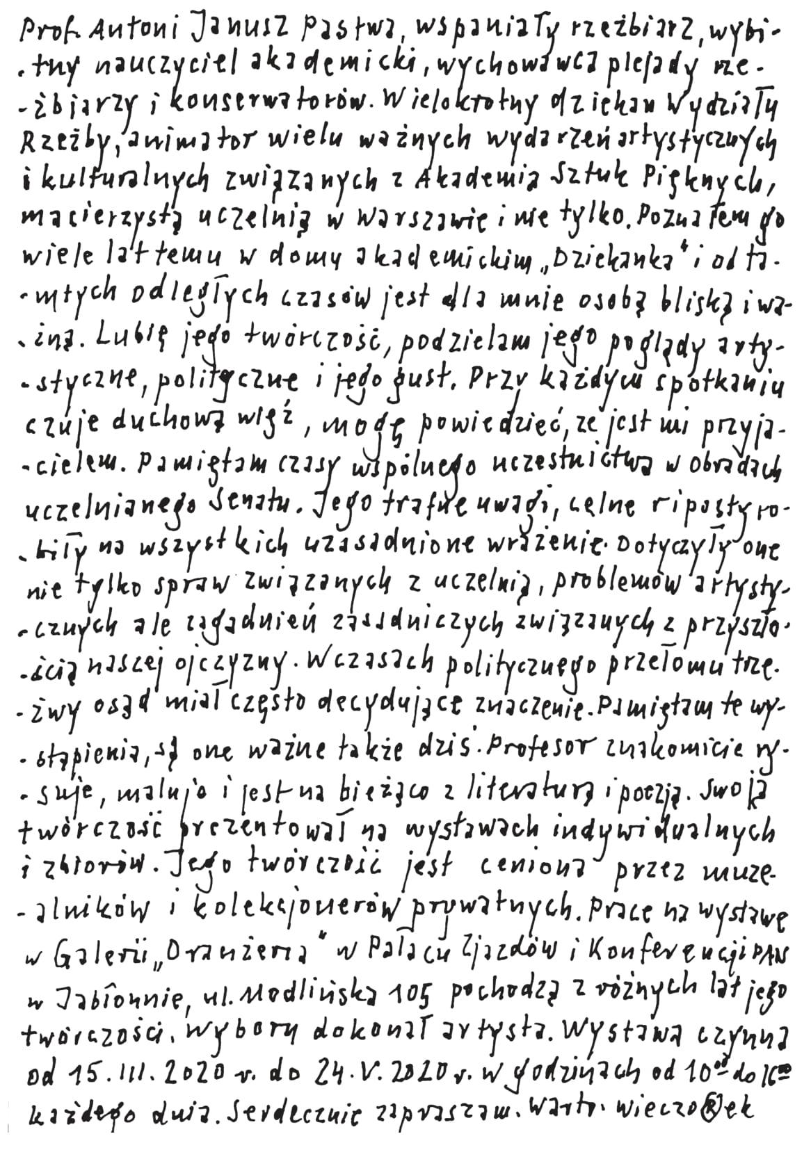 zaproszenie, strona 2