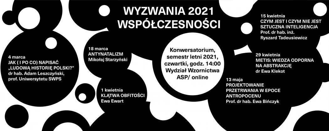 """grafika """"Wyzwania Współczesności 2021"""": konwersatorium na Wydziale Wzornictwa"""