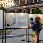 S.O.S. ŚWIAT - Wizualna petycja wsprawie kryzysu klimatycznego. Wystawa towarzysząca 27. Międzynarodowemu Biennale Plakatu wWarszawie. Wernisaż: 9.06.2021, fot.Paulina Brzezińska