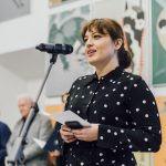 Otwarcie 27. Międzynarodowego Biennale Plakatu wWarszawie, 12 czerwca 2021, Akademia Sztuk Pięknych wWarszawie / Pałac Czapskich, fot.Stanisław Loba
