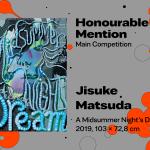 "27th International Poster Biennale in Warsaw, Main Competition, Honourable Mention, Jisuke Matsuda, Japan, ""A Midsummer Night's Dream"""