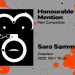 "27th International Poster Biennale in Warsaw, Main Competition, Honourable Mention, Sara Samman, Bulgaria, ""Zooprison"""
