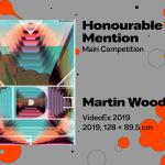 "27th International Poster Biennale in Warsaw, Main Competition, Honourable Mention, Martin Woodtli, Switzerland, ""VideoEx 2019"""