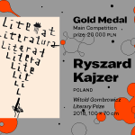 """27th International Poster Biennale in Warsaw, Main Competition, Ryszard Kajzer, Poland, """"Witold Gombrowicz Literary Prize"""", GOLD MEDAL (PLN 20,000)"""