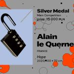 """27th International Poster Biennale in Warsaw, Main Competition, II Alain le Quernec, France, """"Hope"""", SILVER MEDAL (PLN 15,000)"""