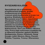 Ryszard Kajzer, złoty medal wKonkursie Głównym 27. MBP wWarszawie, grafika: OKI OKI – Agata Klepka, Aleksandra Olszewska