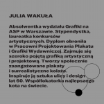 Julia Wakuła: srebrny medal wKonkursie Tematycznym 27. MBP wWarszawie, grafika: OKI OKI – Agata Klepka, Aleksandra Olszewska