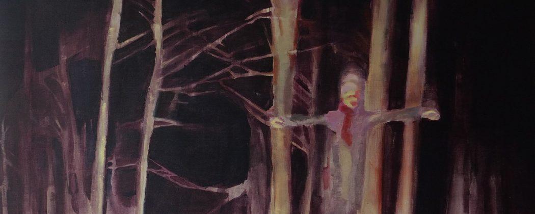 "Klaudia Krynicka, ""Hiding place"", 180x120 cm, acrylic on linen, 2020"
