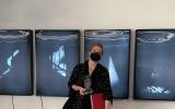 Anna Jędrzejec - laureatka III miesjca, VI Piotrkowskie Biennale Sztuki, 22-10-2021 fot. G.Jędrzejec